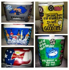 Hand painted cooler! Love the Budweiser top!
