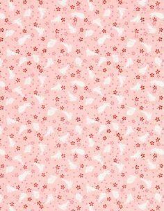 Yuzen Bunnies on Pink Fine Paper