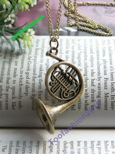 Pretty retro copper 3d french horn musical by toofashion2010, $5.99  so cool