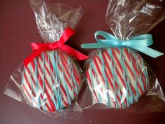 Thomas The Tank Engine Dr. Seuss Birthday Party Favors Aqua Blue and Red Chocolate Covered Oreos Cookies Wedding Favors Baby Shower Favors. $16.00, via Etsy.