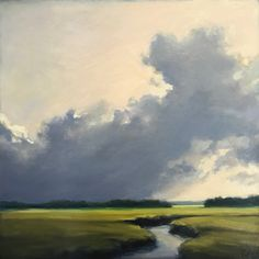 """Road to Goose Rocks III"" by Margaret Gerding. 16""x16"", Oil on Panel. Available at www.maine-art.com"