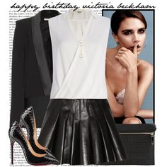 Happy Birthday Victoria Beckham!, created by vanessanataly on Polyvore