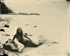 Joni Sternbach, from the series SurfLand. Tintype (wet-plate collodion process), 2011.