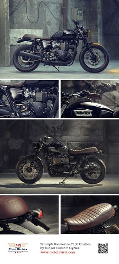 #Triumph Bonneville T100 #Custom ~ featured on Moto Rivista