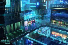 Exile Online is a cyberpunk sandbox MMO in development