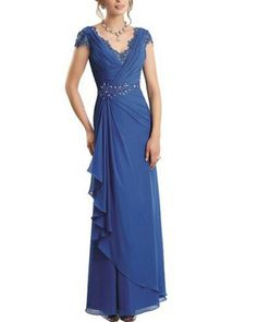 This blue cap sleeve evening gown woudl be great for the mothers of the wedding. We can make custom mother of the bride dresses like this for a client of any shape or size. In addition to custom #eveningdresses we also make #replicadresses that look like a couture design but cost much less. We can work from any picture you have. Get pricing at www.DariusCordell.com