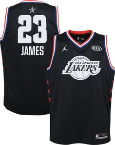 b2ac06b37 Jordan Youth 2019 NBA All-Star Game LeBron James Black Dri-FIT Swingman  Jersey