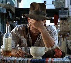 He thinks she's dead. Indiana Jones Fedora, Harrison Ford Indiana Jones, Indiana Jones Films, Famous Movies, Top Movies, Cinema Film, Film Movie, Sci Fi Series, Movie Facts