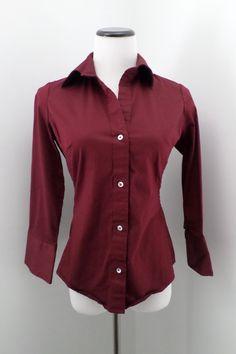 BANANA REPUBLIC Blouse Button Down Shirt Stretch Top Size S #BananaRepublic #ButtonDownShirt