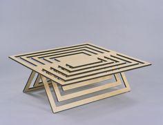 Laser cut table - Twofold | Matthew Harding