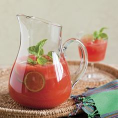 "Watermelon-Sriracha Sangria recipe from ""The Veggie-Lover's Sriracha Cookbook"" — a wonderfully refreshing summer cocktail"