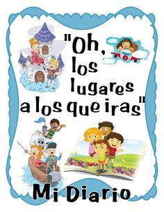 "Reading Journal in SPANISH in fun Dr. Suess quote design: ""Oh, los lugares a los que iras."" (Oh, the places you'll go)"