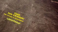 The Peruvian government is planning to file criminal charges against Greenpeace activists who may have permanently scarred the Nazca Lines World Heritage Site during a publicity stunt. Description from forums.superherohype.com. I searched for this on bing.com/images