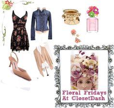 """Floral Fridays At ClosetDash"" by closetdash on Polyvore"
