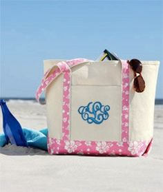 Tote with monogram