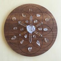 'Balance' Crystal Grid: Purpose: Balance, cleansing and clarity. For healing, amplifying and strengthening. Enhances life force.  Crystals: Clear Quartz  Seed of Life Symbol: The symbol within the Flower of Life, represents Creation. Used for its power to create.