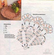 Crochet Doily Diagram, Crochet Flower Tutorial, Crochet Square Patterns, Crochet Mandala, Crochet Designs, Crochet Doilies, Crochet Flowers, Knitting Patterns, Crochet Books