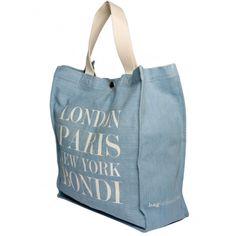 London Paris New York Bondi denim tote | hardtofind.