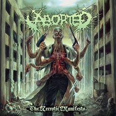 Aborted - The Nercrotic Manifesto (2014) Album Art by Par Olofsson [www.parolofsson.se/] - Technical Brutal Death-Metal