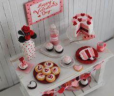 Valentine's Day in the dollhouse - miniature inspiration (scheduled via http://www.tailwindapp.com?utm_source=pinterest&utm_medium=twpin&utm_content=post127116811&utm_campaign=scheduler_attribution)