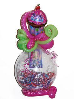 De Cadeauballon cupcake, stuffingballoon  cupcake my style
