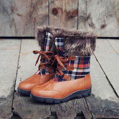 Tartan Flurries Snow Boots