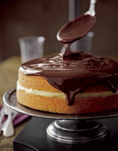 Boston Cream Pie - the yogurt I had today inspired me to look up a recipe for this