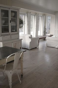 Swedish inspired... space, light and great floor!