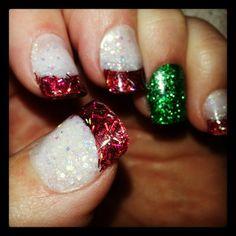 My Christmas nails 2013 #meeeoooow