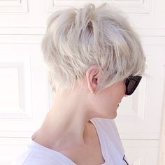 "Becki (@Becki Crosby) | ""Scuse me miss, but the back of yo head is ridiculous!"" #canihaveyonumber Here's a pic from the back of my most recent cut. @nothingbutpixies has a shot of all angles if you need them. #hairgram #pixiecut 