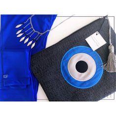 υνδύασε έξυπνα το αγαπημένο σου clutch bag Christina Malle... με καλοκαιρινά αξεσουάρ και άνετα ρούχα! #pcp#leggings#ss2015#collection #fashion#evileye#clutch#bags #summer#crafts#handmade#christinamalle_bags#Greece #madeingreece #greekdesigners #accessories#evileyeproject 💙 Spring Summer 2015, Handmade Bags, Hermes, Photo And Video, Evil Eye, Clothes, Instagram, Fashion, Eyes
