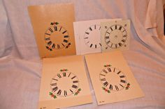 Paper Clock Dials Lot Replacement Parts 4 1/4""