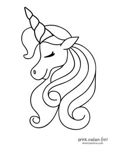 Top 50 Unicorn Coloring Pages For Toddlers | Art ideas ...