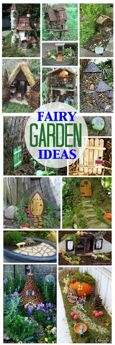 Have you been searching for inspiration for your fairy garden? There are so many… Have you been searching for inspiration for your fairy garden? There are so many fairy garden ideas out there, you will love all of these magical ideas! Fairy Tree Houses, Fairy Village, Fairy Garden Houses, Gnome Garden, Tower Garden, Fairies Garden, Fairy Crafts, Garden Crafts, Mini Fairy Garden
