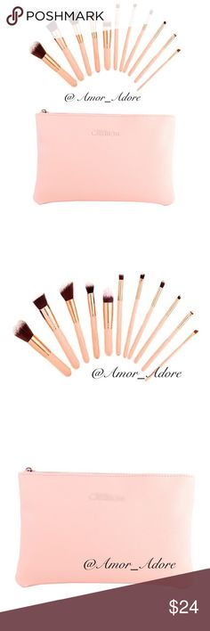 Blush Beauty Brush Set Blush Beauty Brush Set  🔸1 Cosmetic Bag. 🔸12 PC Brush set   ✔️Serious buyers please & No Low ballers!  To me it's asking half or more off an item.   ✔️All BTQ are Items are New. However, they may or may not come with attached tags. It depends on how the Vendor sends them. Amor Adore Makeup Brushes & Tools
