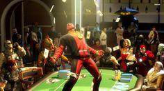Deadpool in the casino wallpaper - Comic wallpapers - #23646