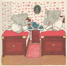 Babar and Celeste in Bedroom