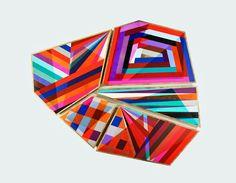 unusual shaped paintings - Google Search Installation Street Art, Appropriation Art, Deep Time, Internet Art, New Media Art, Sculpture Painting, Feminist Art, Color Studies, Geometric Art