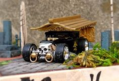 Hot Wheels Customs : Un Corbillard Bone Shaker par AB-Factory Custom Hot Wheels, Hot Wheels Cars, Custom Cars, Porsche, Boat Radio, Bone Shaker, Rauh Welt, Diecast Model Cars, Radio Control