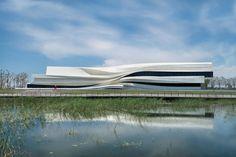 Museum von waa in Yinchuan / Fließende Fassade - Architektur und Architekten - News / Meldungen / Nachrichten - BauNetz.de