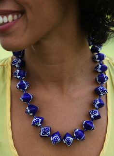 Imena Painted Necklaces: Meaning Dream, Imena symbolizes the hopes, wishes, and dreams we all have for the world.  Each BeadforLife® Imena Painted Necklace is hand painted and truly unique.  The original three painters (Muzaki Freda, Namyalo Florence, and Nabankema Rebecca) began hand painting serene creatures such as giraffes, zebras, and fish onto each bead.$50