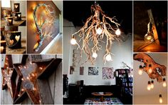Creative Ideas25 Beautiful DIY Wood Lamps And Chandeliers That Will Light Up Your Home - Creative Ideas
