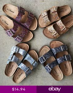 Glitter Slip On Sandals Black Slip On Sneakers Outfit, Flat Sandals Outfit, Shoes Heels Wedges, Wedge Shoes, Addias Shoes, Zara Shoes, Cute Shoes, Me Too Shoes, Flip Flop Shoes