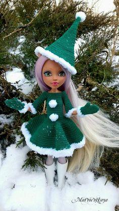 Фотография Crochet Doll Clothes, Knitted Dolls, Crochet Dolls, Crochet Doll Pattern, Monster High Dolls, Clothes Crafts, Ivory Wedding, Barbie Clothes, Clothing Patterns