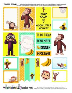 Free Curious George Printable | Victoria Thatcher