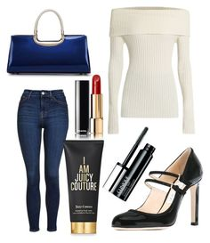 """Untitled #10062"" by ohnadine on Polyvore featuring Topshop, The Row, Jimmy Choo, Juicy Couture, Chanel and Clinique"