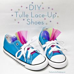 No-Sew DIY Tulle Lace-Up Shoes - perfect for kids and adults!