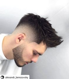 Best 44 Quiff Haircuts For Men 2019 [Top Styles Covered] Spiky Quiff With Beard - Best Quiff Haircut Mens Hairstyles With Beard, Quiff Hairstyles, Cool Hairstyles For Men, Hair And Beard Styles, Haircuts For Men, Curly Hair Styles, Hair Style For Men, Men's Haircuts, Quiff Haircut