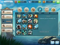 Heroes of Order and Chaos Profile & Avatar: screenshots, UI