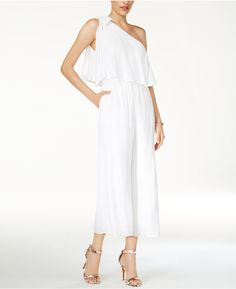0198e206a654 Guess Marino One-Shoulder Jumpsuit - White XS
